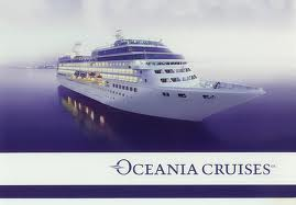 Oceania Cruises small ship with corp logo B