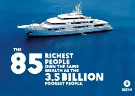 FEWER THAN 100 PEOPLE HOLD MORE WEALTH THAN HALF THE WORLD'S POPULATION