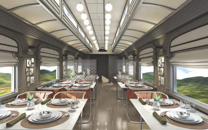 Belmond Andean Explorer Train Dining Car